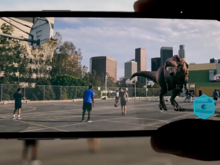 Augmented Reality mit dem iPhone X funktioniert prima