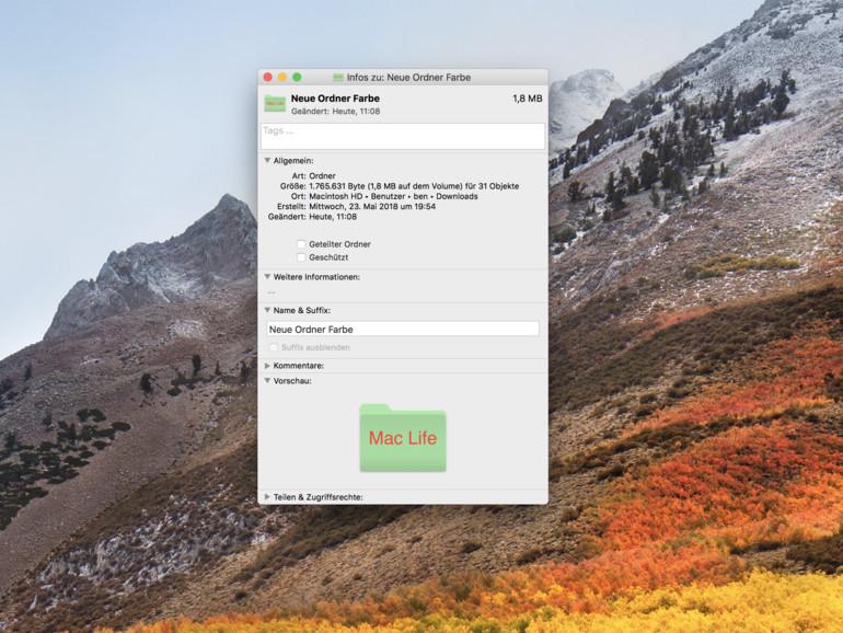 macOS: So ändern Sie einzelne Ordnerfarben am Mac