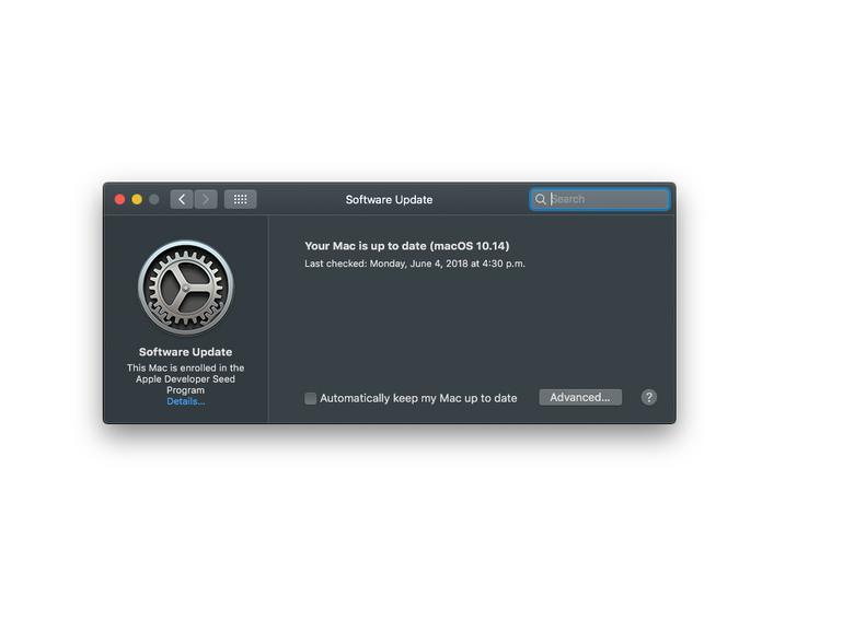 In der ersten Beta von macOS 10.14 sind die Systemupdates wieder in den Systemeinstellungen untergebracht
