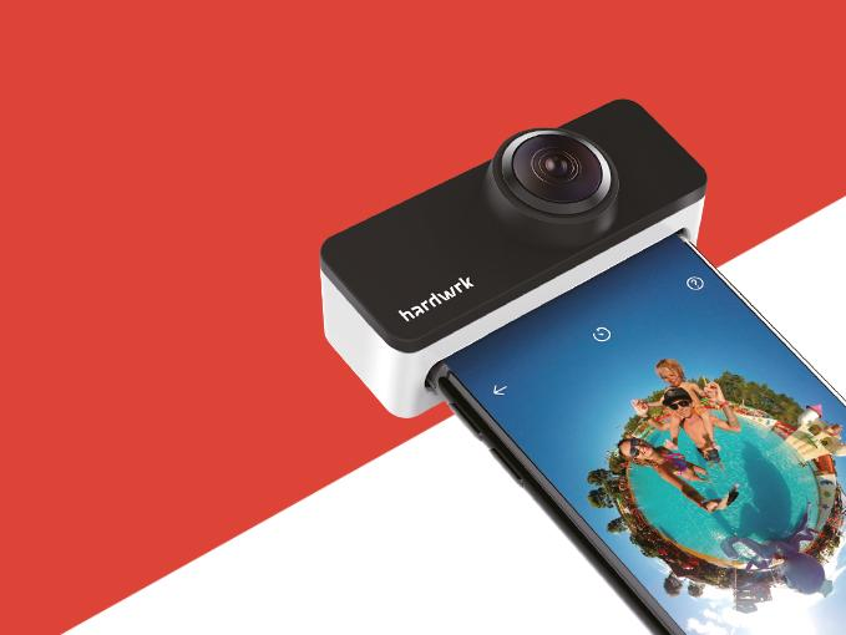 Der PanoClip wird einfach auf die iPhone-Kameras aufgesteckt – Weitere Hardware braucht es nicht