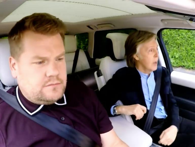 James Corden unterwegs mit Paul McCartney in Liverpool.