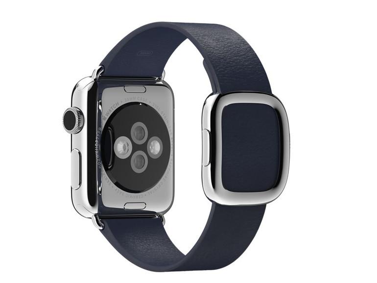 Schnallen-Armband für Apple Watch eingestellt