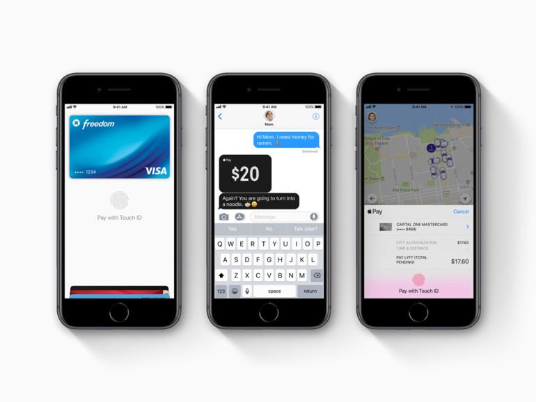 Mit Apple Pay lässt sich in Geschäften und Apps bezahlen und Geld per iMessage verschicken.