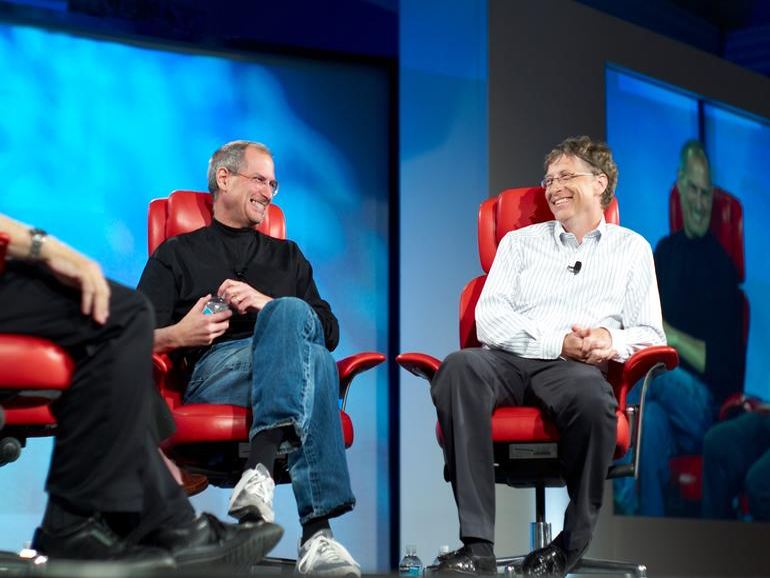 Steve Jobs und Bill Gates