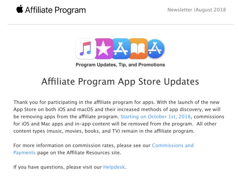 Screenshot aus dem Newsletter Apples