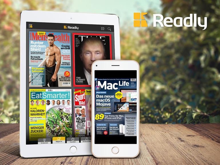 Ihre Lieblingszeitschriften können Sie jederzeit herunterladen und auch ohne Internetzugang genießen.