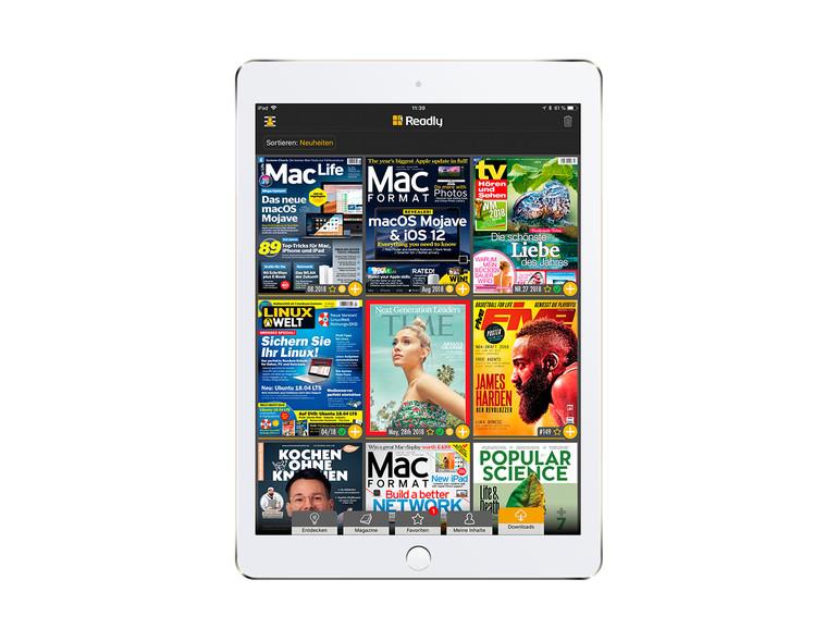 Auf dem iPad entfaltet Readly seine ganze Pracht.
