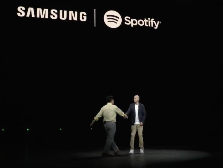 """Schulterschluss: Im Rahmen des """"Unpacked""""-Events in New York haben Samsung und Spotify eine weitreichende Partnerschaft angekündigt."""