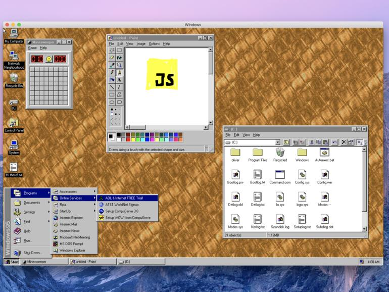 Windows 95 als App unter macOS