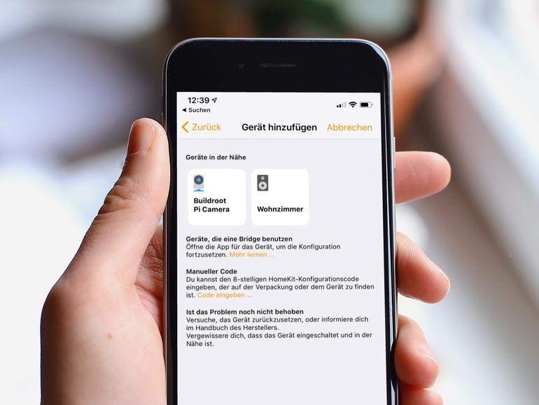 DIe Kamera lässt sich nach dem Zusammenbau ganz einfach über die Home-App Ihrem Zuhause hinzufügen.