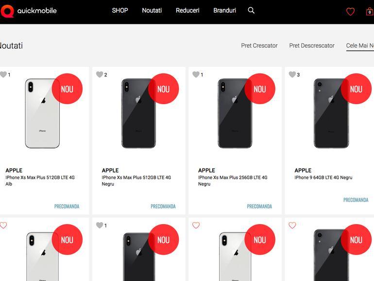iPhone XS bei Quick Mobile in Rumänien vorbestellen
