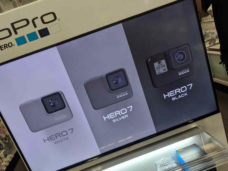 GoPro Hero 7: Ein Werbeaufsteller verrät erste Spezifikationen.
