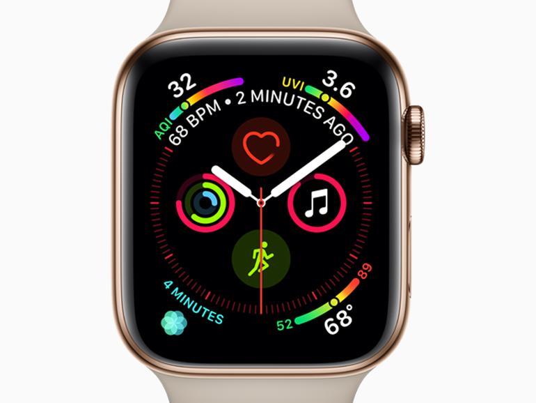 Mehr Platz auf dem Display der Apple Watch Series 4