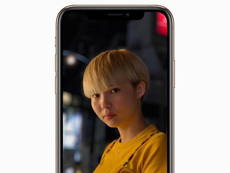 iPhone XS mit OLED-Bildschirm und Face ID