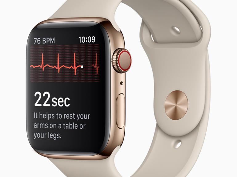 Apple Watch Series 4 mit EKG