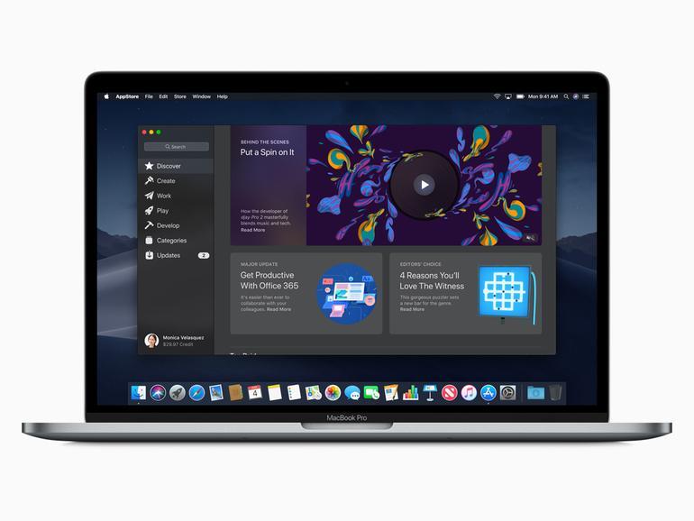 Der neue Mac-App-Store von macOS Mojave.