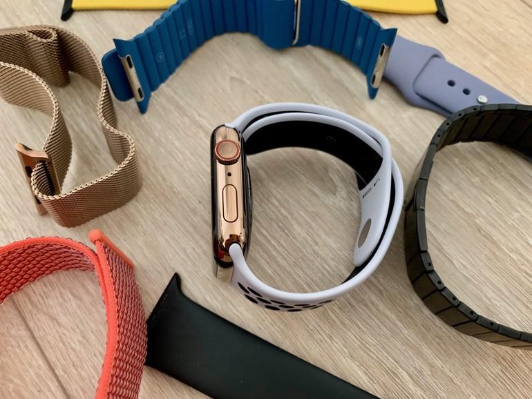 Die Auswahl an Armbändern ist gigantisch. Zur goldenen Apple Watch passen vor allem helle.