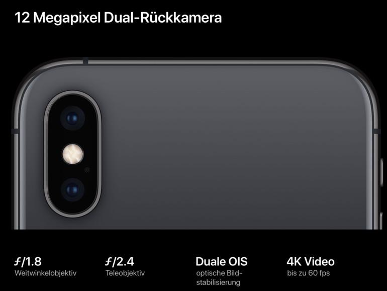 Das komplett überarbeite Dual-Kamera-System der Xs-Generation