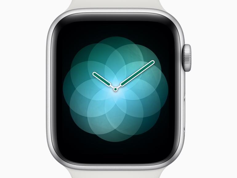 Atmen-App auf der neuen Watch Series 4 von Apple