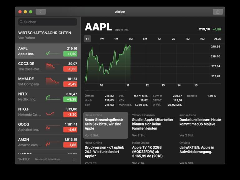 Die Aktien-App