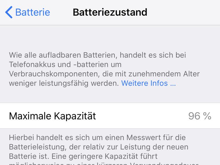 Batteriezustand des iPhones prüfen