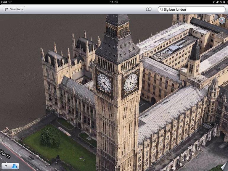 London Parlament mit zwei Uhrzeiten