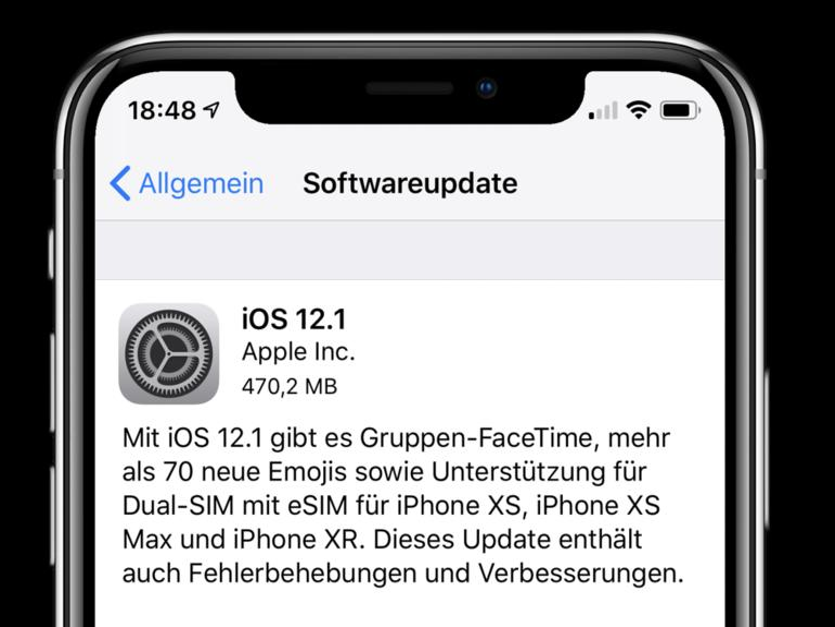 iOS 12.1 ist erschienen