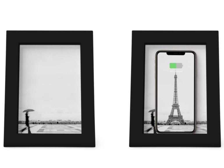 PowerPic: Dieser Bilderrahmen lädt Ihr iPhone kabellos