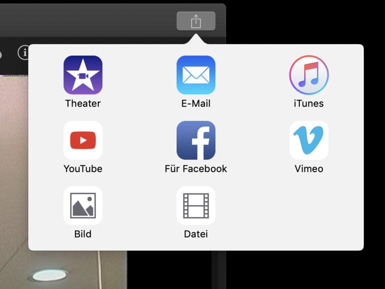 Exportieren Sie Ihr fertiges Video aus iMovie