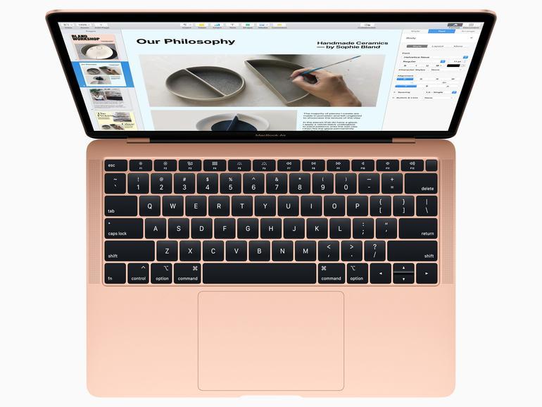 Tastatur und Trackpad sind aus dem MacBook Pro übernommen