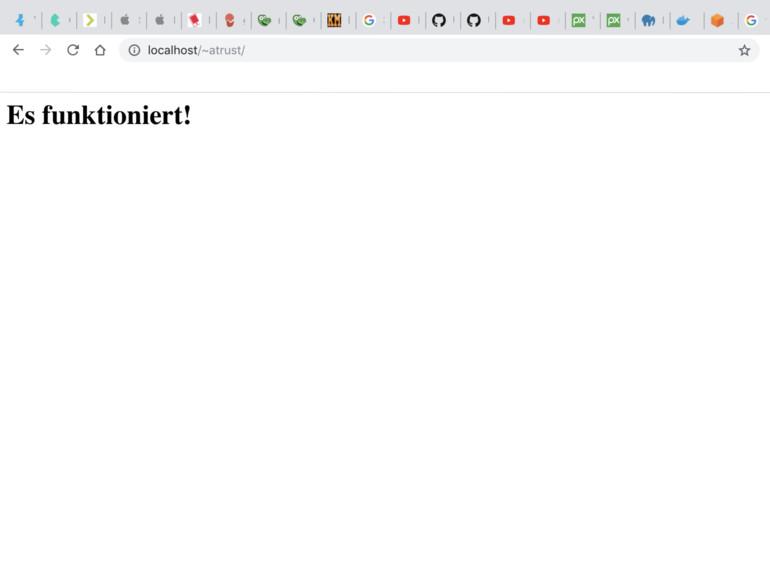 Eigenen Webserver unter macOS 10 14 Mojave aufsetzen - so