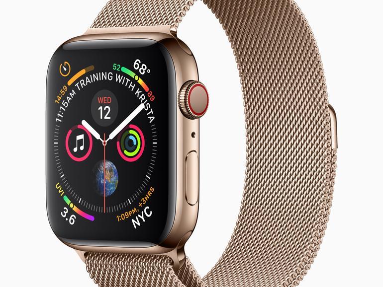Apple Watch Series 4 mit Milanaise-Armband