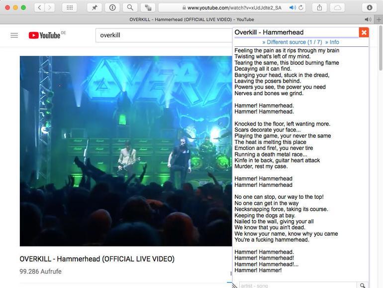 Lautstark mitsingen erlaubt: Lyrics Here macht es auf allen wichtigen Webbrowsern möglich.