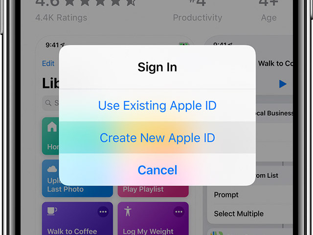 Create a new Apple ID – that's how it works