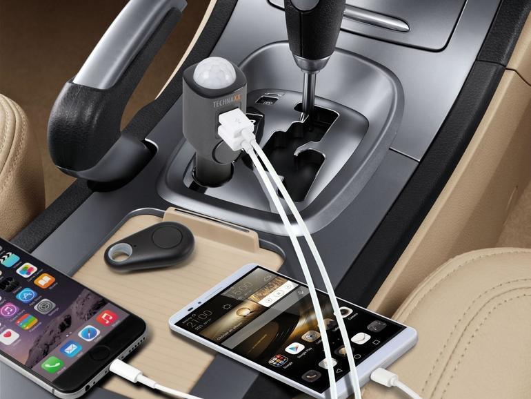 Mit dem Technaxx Autoalarm schützen Sie auch einen Mietwagen im Urlaub.