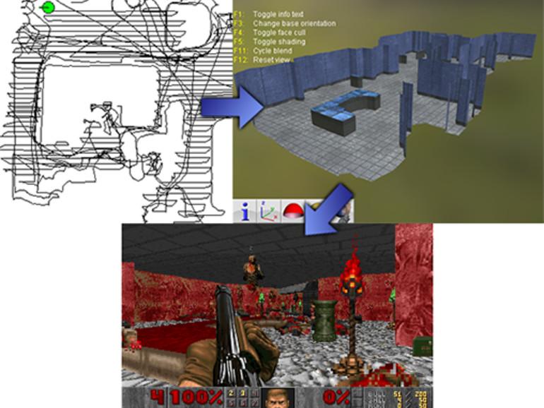 Doomba erstellt aus Raumdaten des Saugroboters neue DOOM-Karten