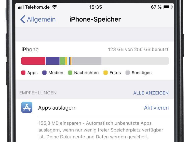 Speicherplatz am iPhone optimieren