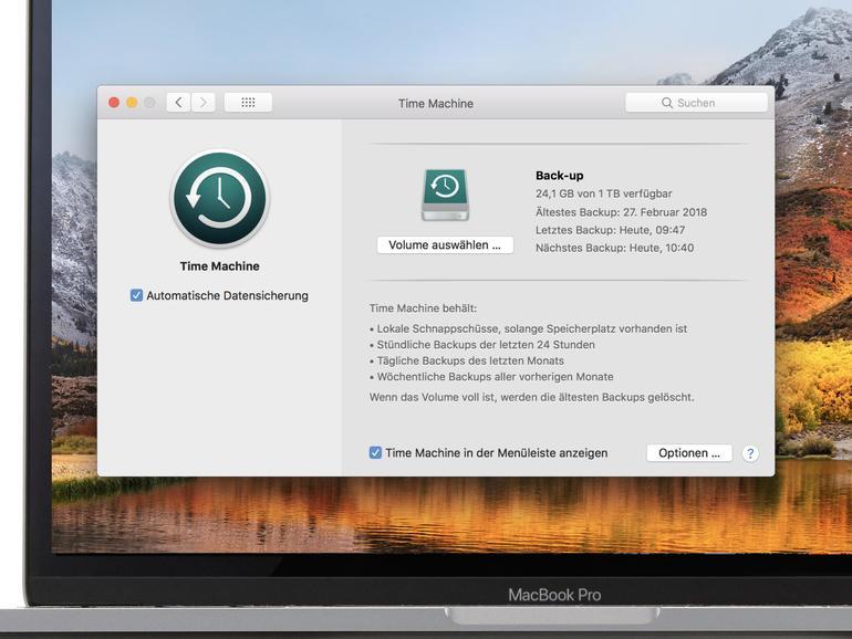 """Wie Sie auf eine größere Festplatte umsteigen und dabei Ihre Back-up-Historie behalten, lesen Sie auf <a href=""""https://apple.co/2wy06p0"""">apple.co/2wy06p0</a>"""