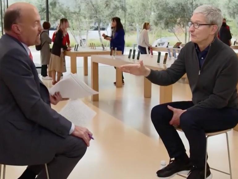 Tim Cook verteidigt Apples Kurs trotz schlechter Prognosen
