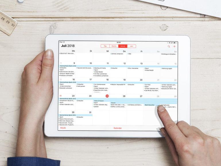 Apples Kalender am iPad