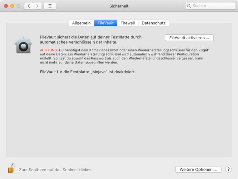 So schützen Sie private Daten in macOS