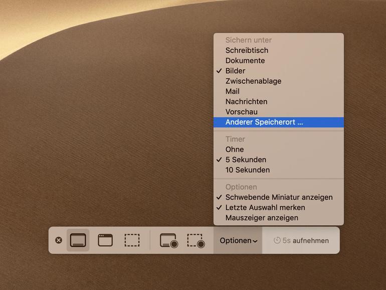 Achtung, Aufnahme! Screenshots und Screencasts in macOS Mojave