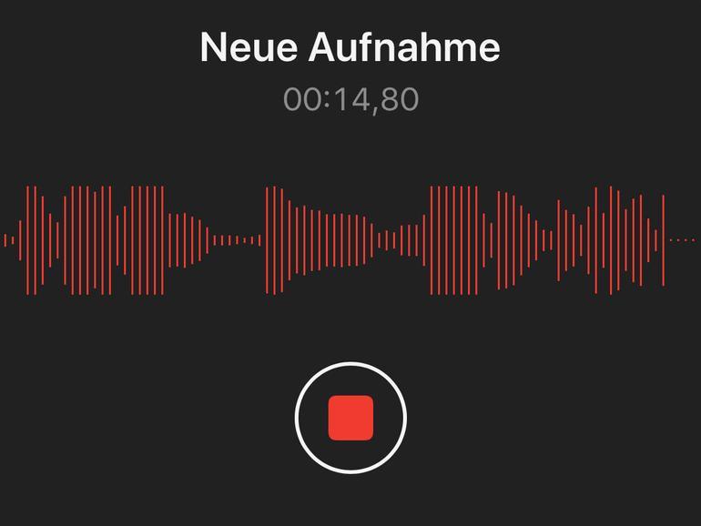 Wer auch ein iPhone besitzt, kann ganz bequem auf diesem Sprachmemos aufnehmen und darauf vertrauen, dass die Inhalte per iCloud synchronisiert werden.