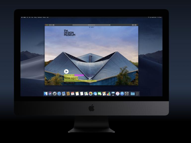 macOS Mojave: Neuestes Update bringt Dark Mode für Websites