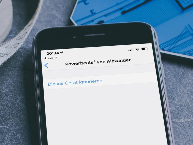 """Bluetooth-Gerät """"ignorieren"""""""