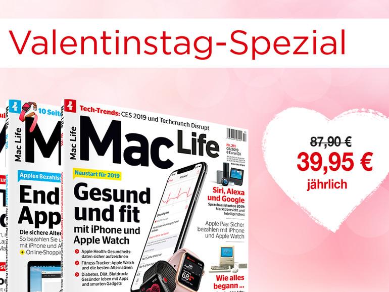Mac-Life-Abo zum Valentinstag günstiger