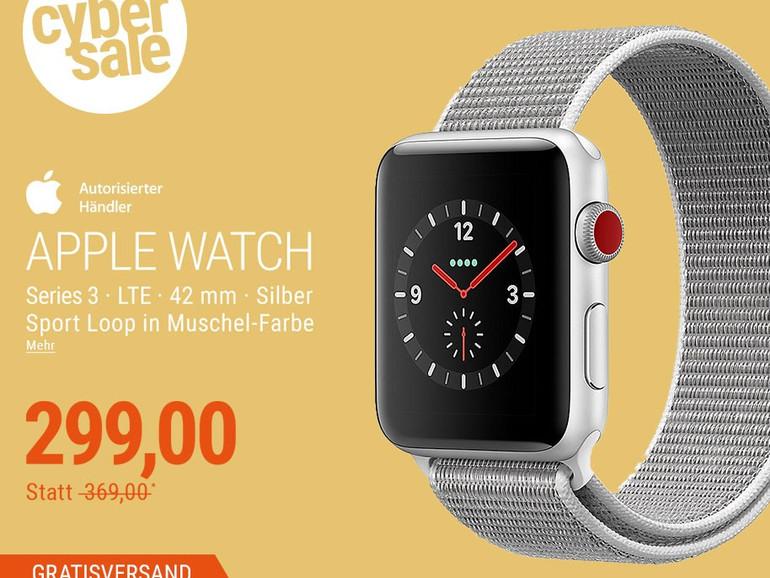 Series 3 Apple Watch in Silber mit Sport Loop