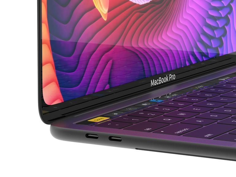 Konzept: MacBook Pro mit randlosem OLED-Display und Face ID