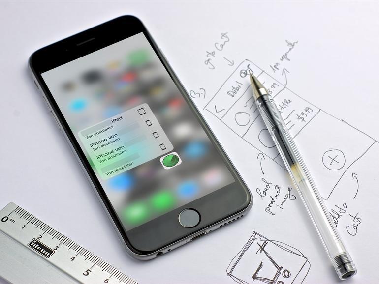 3D Touch hilft bei der Geräte-Suche