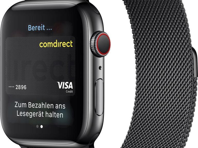 Auch mit der Apple Watch bezahlen Sie sehr einfach.